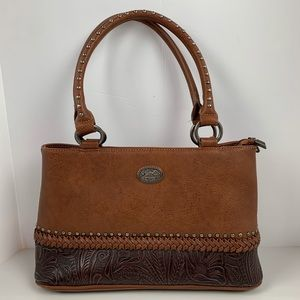 Montana West Tooled Leather Concealed Carry Bag